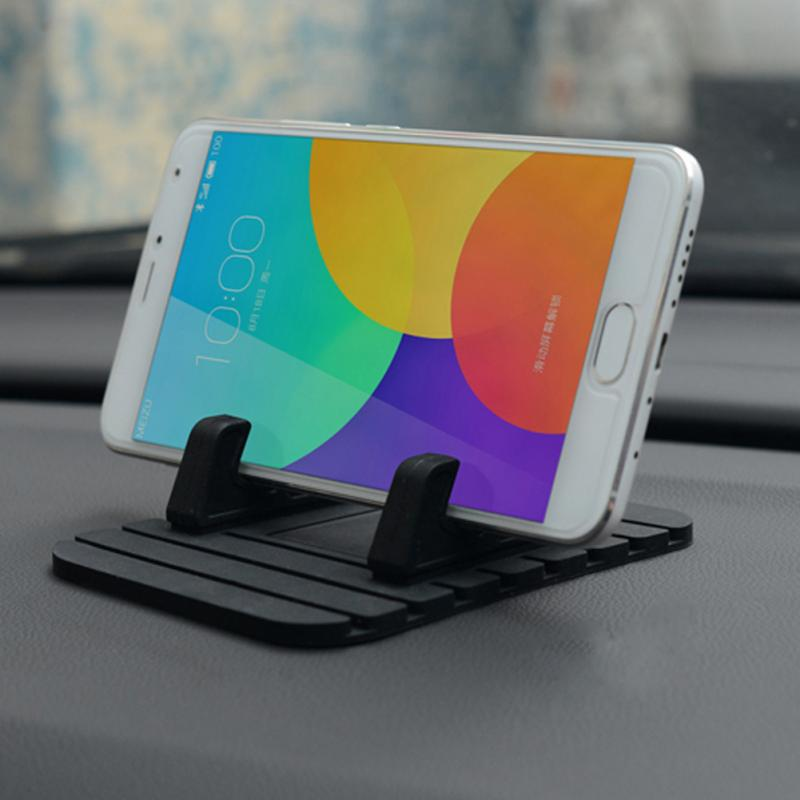 2018 Universal Car Phone Holder Soft Silicone Anti-slip Mat Mobile Phone Mount Stands Bracket for iPhone 5 6 6S Plus oicgoo transparent phone case for iphone 6 6s 7 8 plus ultra thin clear soft tpu silicone cover cases for iphone 8 7 6 6s plus