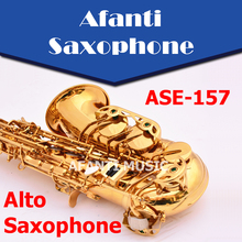 Afanti Music Eb tone / Brass body / Gold finish Alto Saxophone (ASE-157)