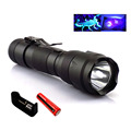 Portable Ultra Violet 395nm uv Flashlight purple linternas flash Torch Light ultraviolet backlight with 18650 battery charger