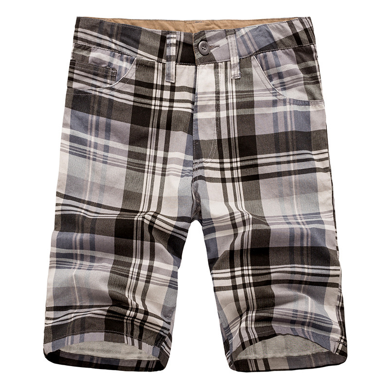 Summer 2017 Fashion bermuda masculine men s boardshorts wholesale Exercise shorts cotton casual plaid Shorts men