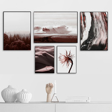 Abstract Girl Bird Sea Wave Forest Desert Wall Art Canvas Painting Nordic Posters And Prints Pictures For Living Room Decor