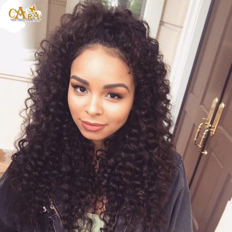 Glueless Full Lace Human Hair Wigs For Black Women 6A Indian Deep Wave Curly Virgin Hair