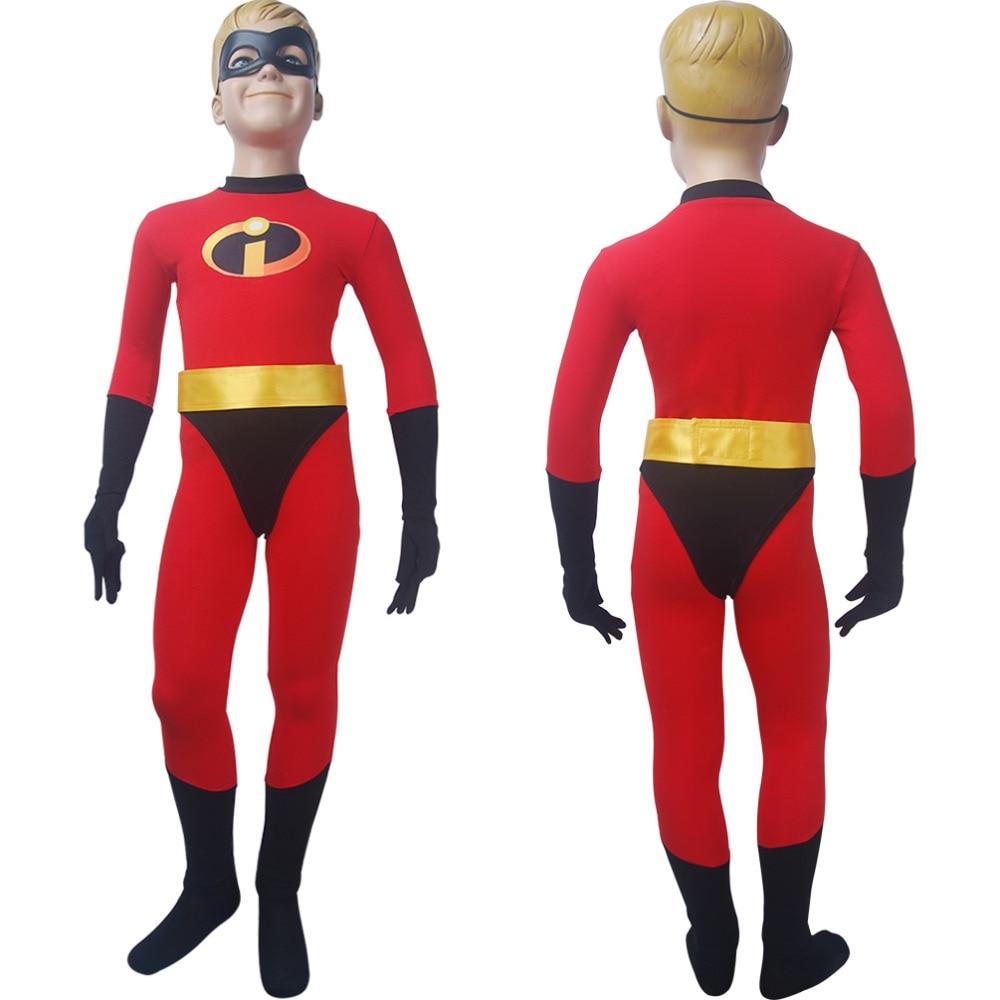 Kids boys Incredibles 2 jumpsuit cosplay superhero Halloween costume X'mas birthday Valentine's gift comic-con anime film toys