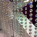 String Tassel Curtain Crystal Beads Door Window Beautiful Divider Partition 1*0.15M Decoration Store Coffeeshop 5pcs