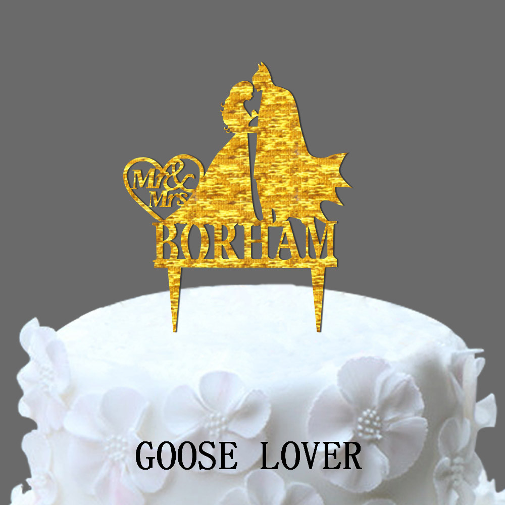 Mr And Mrs Wedding Cake Topper With Batman Silhouette, Funny Film ...