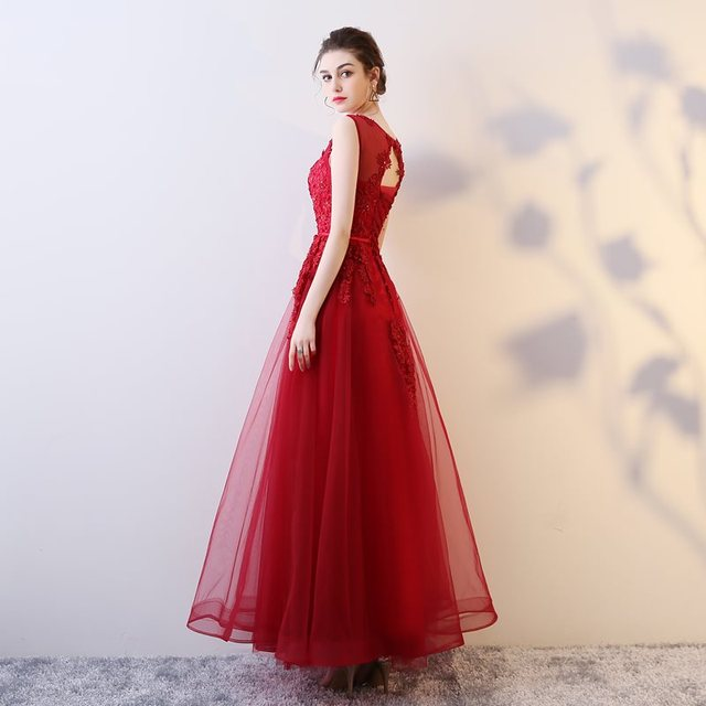 103cbdec8e Doparty formal 2018 New arrival women red sexy lace beading elegant long  party evening dresses A-line prom homecoming dress XS4