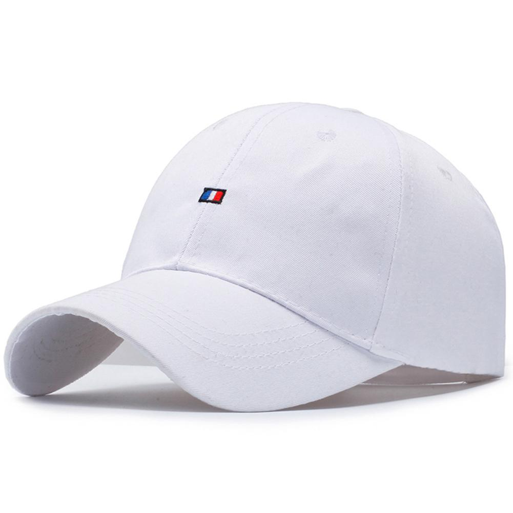 MISSKY 2019 New Women Men   Baseball     Cap   Female Solid Color Outdoor Adjustable Embroidered Lovers Hats Summer Black White Color