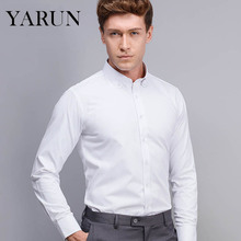 Age season men long sleeve shirt business suit professional tooling youth pure white button down shirt