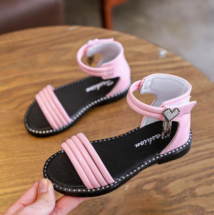Children Sandals Girls Princess Lovely Rome Shoes Girls Sandals New Summer Students Kids Cute SandalsChildren Sandals Girls Princess Lovely Rome Shoes Girls Sandals New Summer Students Kids Cute Sandals