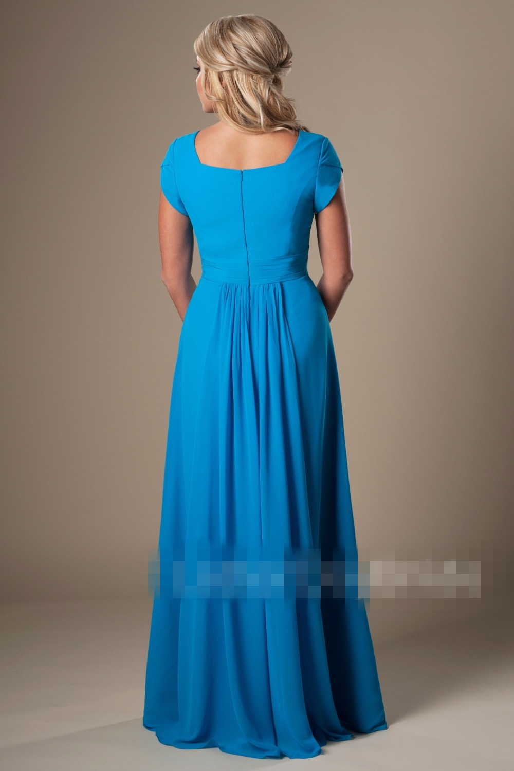 Simple blue chiffon beach modest bridesmaid dresses with sleeves simple blue chiffon beach modest bridesmaid dresses with sleeves floor length elegant women formal wedding guests dresses cheap in bridesmaid dresses from ombrellifo Images