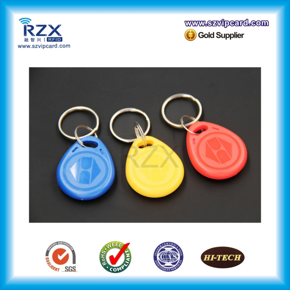 free shipping RFID Tag Keyfobs 125khz rfid Keychain Ring Token Proximity ID Card Chip EM 4200 for Access Control Attendance