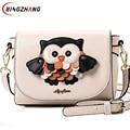 2017 nova moda bolsas de couro das mulheres saco dos desenhos animados coruja ombro raposa mulheres sacos de mensageiro sacos bolsa mujer L4-1108 wallte bonito