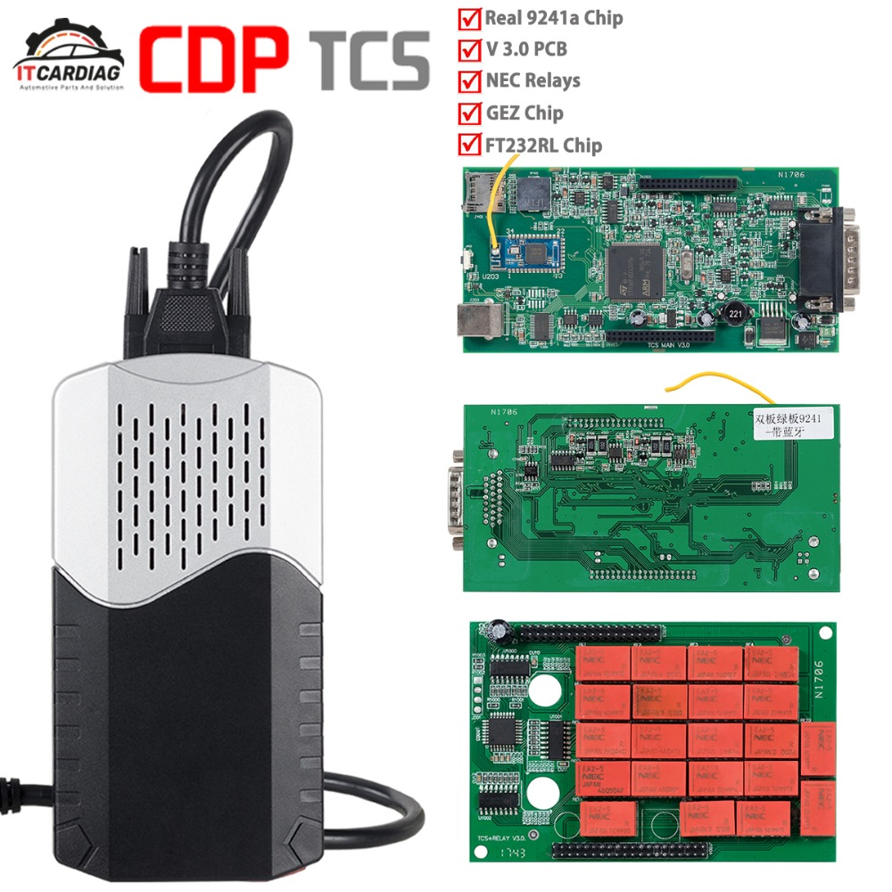 Carte de CDP TCS V3.0 pour le camion de voiture OBD2 tcs cdp pro NEC relais Bluetooth 2016 outil de diagnostic automatique de logiciel
