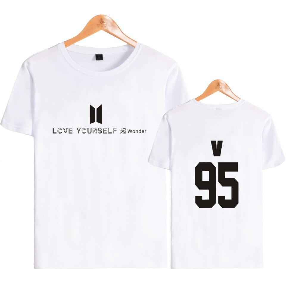 BTS Bantan мальчики любят себя чудо футболка с короткими рукавами модные хлопковые футболки Джин СУГА J-надеюсь RM ЦЗИМИНЬ в Jungkook