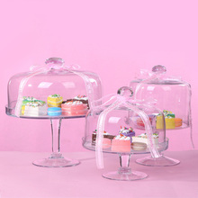 Food glass candy dish cover fruit plate Afternoon tea cake West Point tray Cake dessert