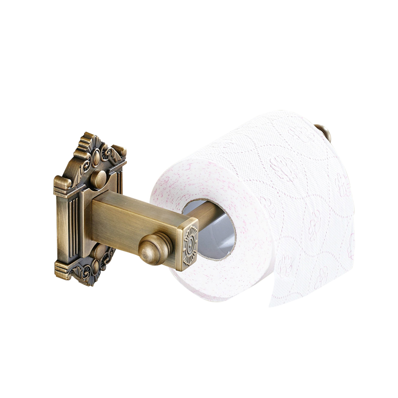 Carved Toilet Roll paper Holder Retro European Creative Toilet Paper Holder Bathroom Paper Holder without cover black / antique european style antique brass luxury paper towel rack bathroom paper holder base carved toilet paper box bathroom toilet accessor