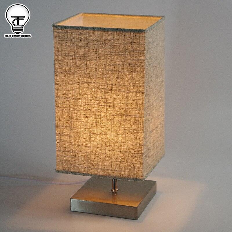 Moderne Bref Lampe De Chevet Jaune Rouge Orange Gris Lin