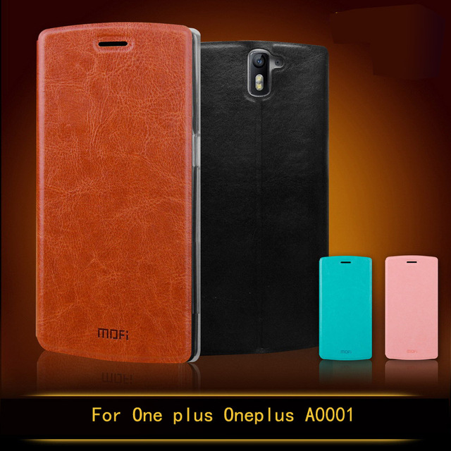 sale retailer 4ce64 4ac1c US $8.2 14% OFF|For OnePlus One A0001 Case Mofi Flip Style High Quality  Mobile Phone Case For One Plus One A0001 Stand Cover-in Flip Cases from ...