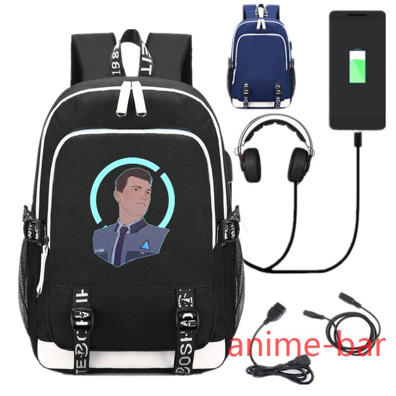 все цены на New Game Detroit Become Human laptop Backpack School Bags Bookbag USB Charge Interface Shoulder Travel Bag Work Leisure Bags
