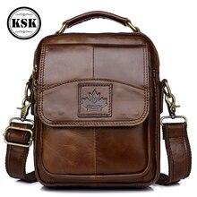 حقيبة جلدية أصلية حقيبة ساعي بريد للرجال حقيبة يد جلدية حقائب كروسبودي للرجال حقيبة يد فاخرة 2019 رفرف جيب KSK