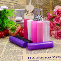 Mayitr 100pcs 5g Plastic Empty Lipstick Container 4 Colors Empty Lip Balm Gloss Bottle Container Tube+Caps for Storage