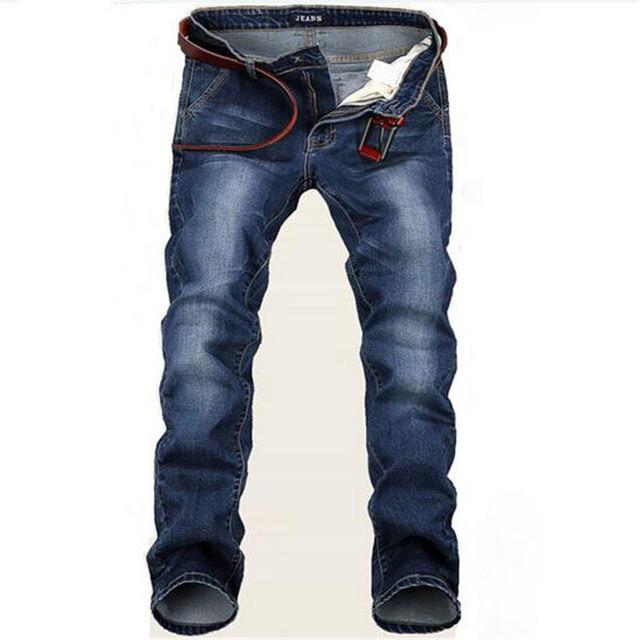 Men Good Quality Straight Stretch Plus Size Denim Jeans Casual Slim Trousers