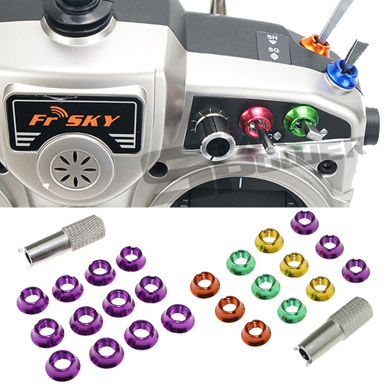 12pcs STAR POWER Radio Control Switch Color Nut For Futaba JR
