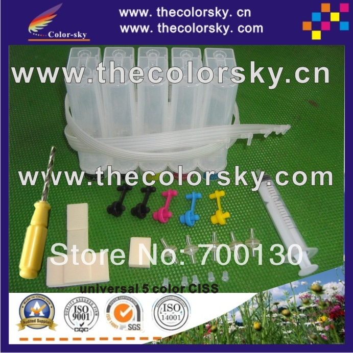 universal 5 color CISS kit with accessaries cheapest shipment cost for Brother for CANON for Epson for HP