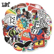 LST 50-100pcs stickers for Laptop Skateboard Luggage Bicycle Motorcyle Car bathroom Graffiti Decal Doodle Styling Funny Sticker(China)