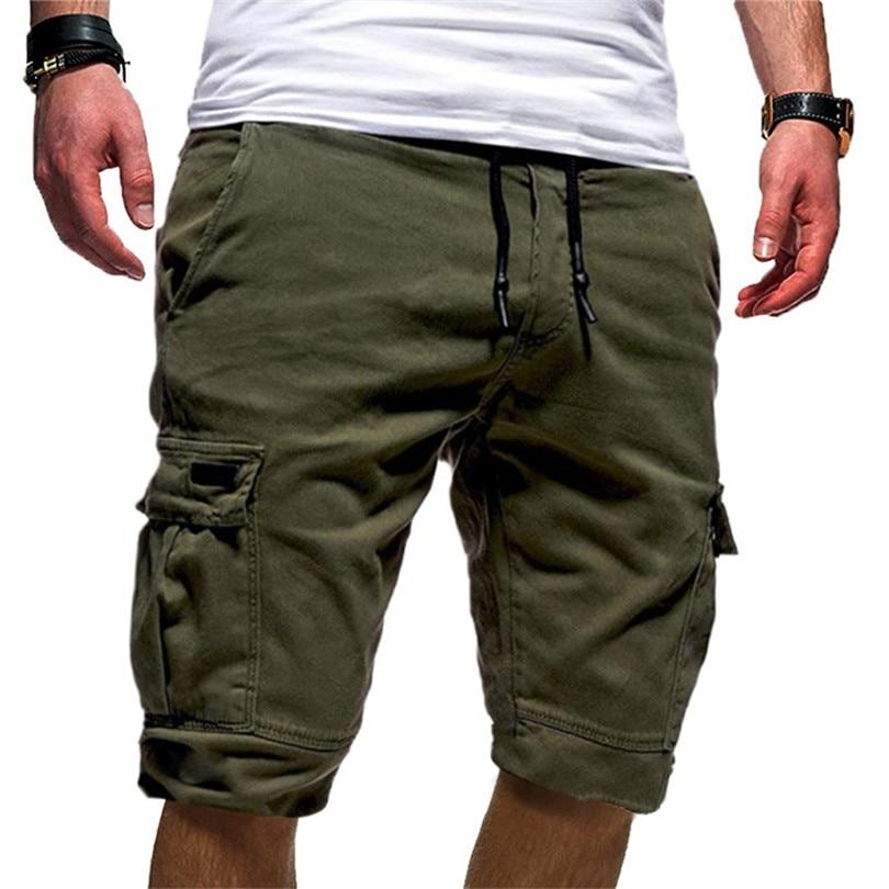 Men Sports Solid New 2019 Summer Fashion Bandage Casual Loose Sweatpants Work Pants Drawstring Men Shorts Pant #Jun08 Wholesale
