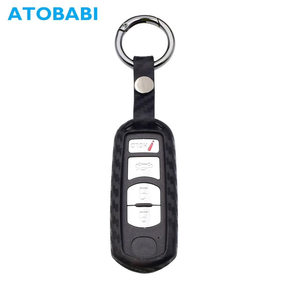 Carbon Fiber Car Remote Key Fob Case Shell Cover For Mazda 3,5,6 CX5 CX3 CX7 CX9