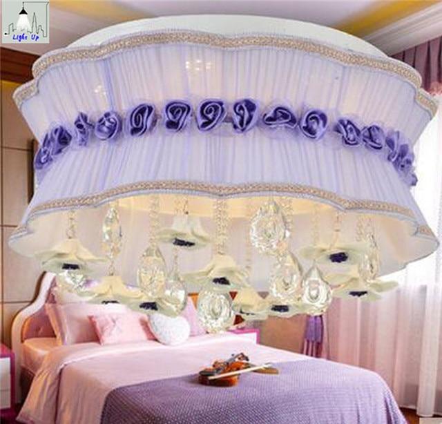 Neu kommen moderne luxus 50 cm stoff spitze blume deckenleuchten für ...