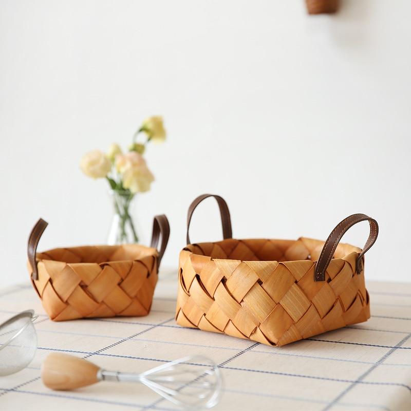 Lovely Weben Ablagekorb Rattan Handarbeit Obst Essen Veranstalter Brot Körbe Handarbeit Möbel & Wohnen Kochen & Genießen