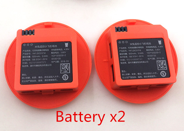 Original 2PCS 920mAh Battery for Xiaomi MiTu WiFi FPV Quadcopter Drone Spare Parts Accessories  In Stock