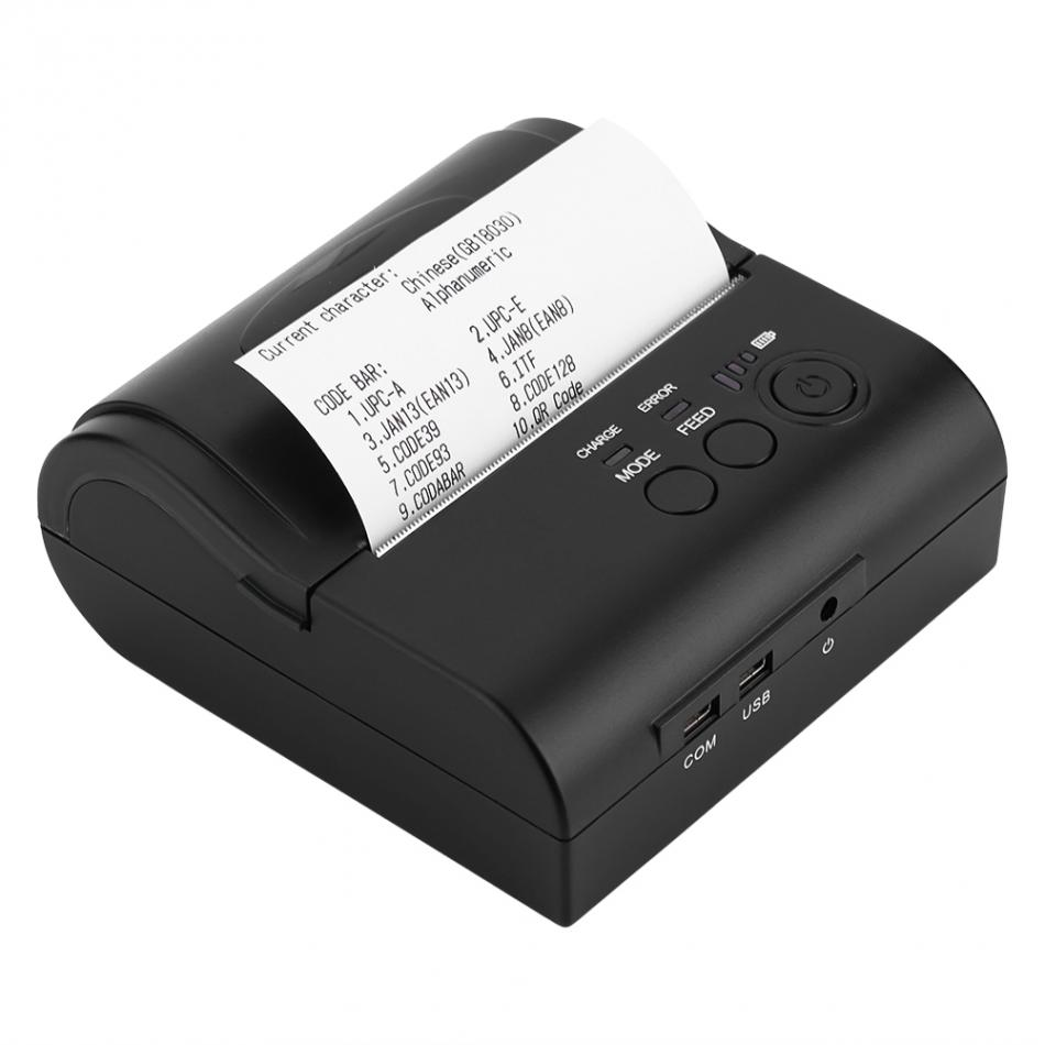 Usb Bluetooth 80mm Mobile Mini Thermal Printer Lithium Ion Batteries Support Thai Printing Bluetooth And Usb Pos Printer 80mm Printers Aliexpress