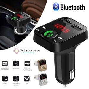 Image 2 - Smart Universal Bluetooth Audio Receiver Wireless Bluetooth Receive Auto FM LED Digital Display Handsfree Car Accessories
