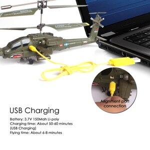 Image 5 - סימה S109G שלט רחוק Dron copteApache סימולציה צבאי RC מסוק מטוסי קרב עם לילה אור ילד צעצוע מתנה מצחיק