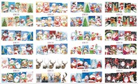 On sale !! 1lot by 10 papers 12 New Style Nail Art Water Sticker Christmas trees and shoes in 2016 for BN229-240