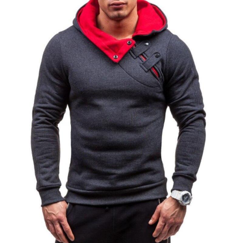 Brand 2018 Hoodie Soild Warmth New Stitching Hoodies