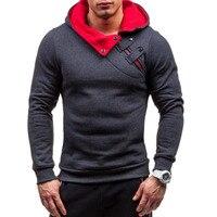 Brand 2017 Hoodie Soild Warmth New Stitching Hoodies Men Fashion Tracksuit Male Sweatshirt Off White Hoody