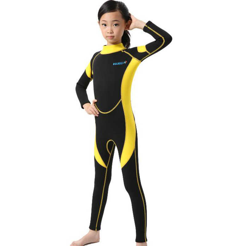 5300a38c5 ... 2.5MM Neoprene Wetsuits Kids Swimwears Diving Suits Long Sleeves Boys  Girls Surfing Children Rash Guards ...