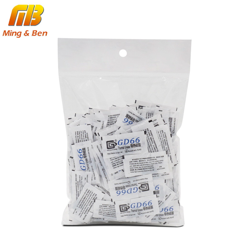 200PCS GD66 Thermal Conductive Grease Paste Silicone Plaster For LED Chip Heatsink Compound Grams High Performance Gray For DIY