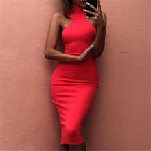 2018 new strap women turtleneck dress fashion sexy attractive cute elegant midi bandage Dresses black white red