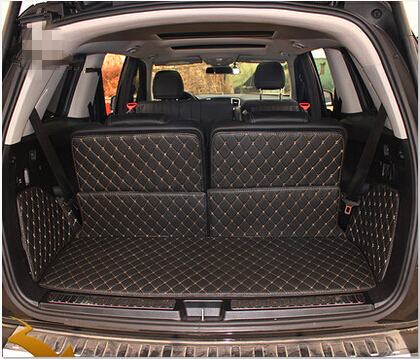 Best quality Special trunk mats for Mercedes Benz GLS 350d 7seats 2016 durable boot carpets for
