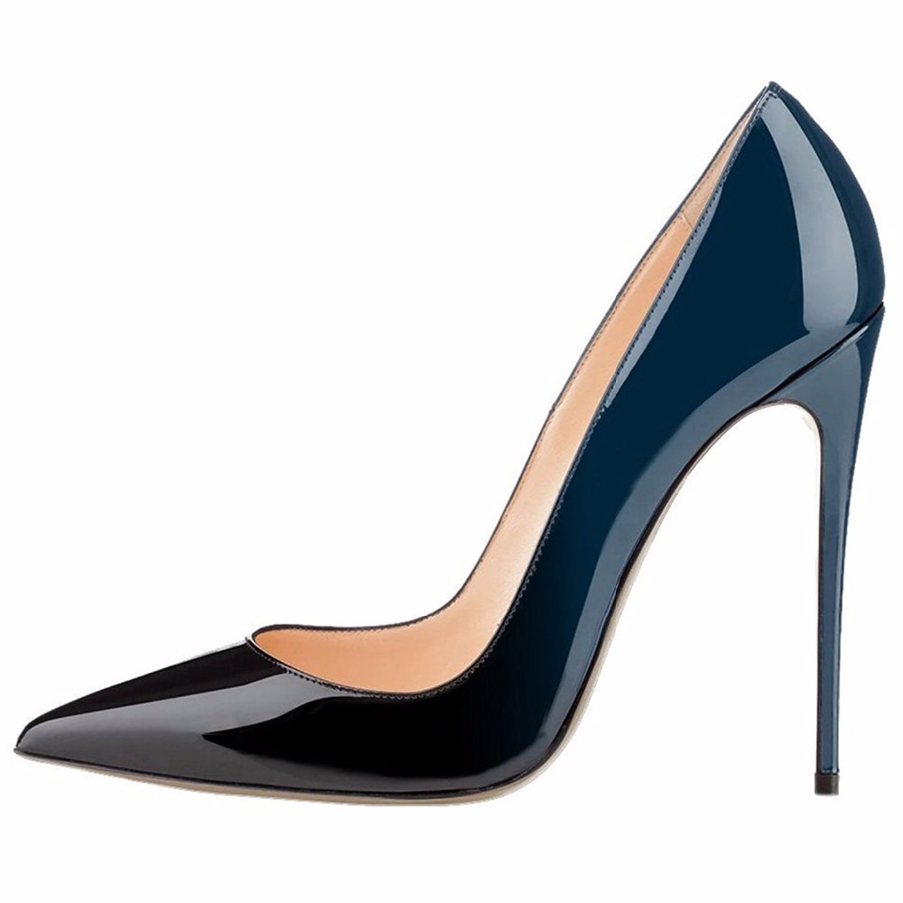 1a8463ffa7 Women High Heel Pumps 2017 Kate Shoes Extremly High Heels Black Nude Patent  Basic Women Court Shoes Mirror Leather Stilettos -in Women's Pumps from ...