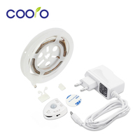 Under Bed Motion Sensor Dimmable Lighting Cabinet Light Warm White LED Strip With Automatic Shut Off