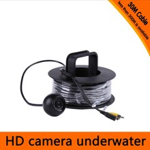 Free shipping For DHL 30Meters Depth Underwater Camera with 12PCS white LEDS & Leds Adjustable for Fish Finder & Diving Camera
