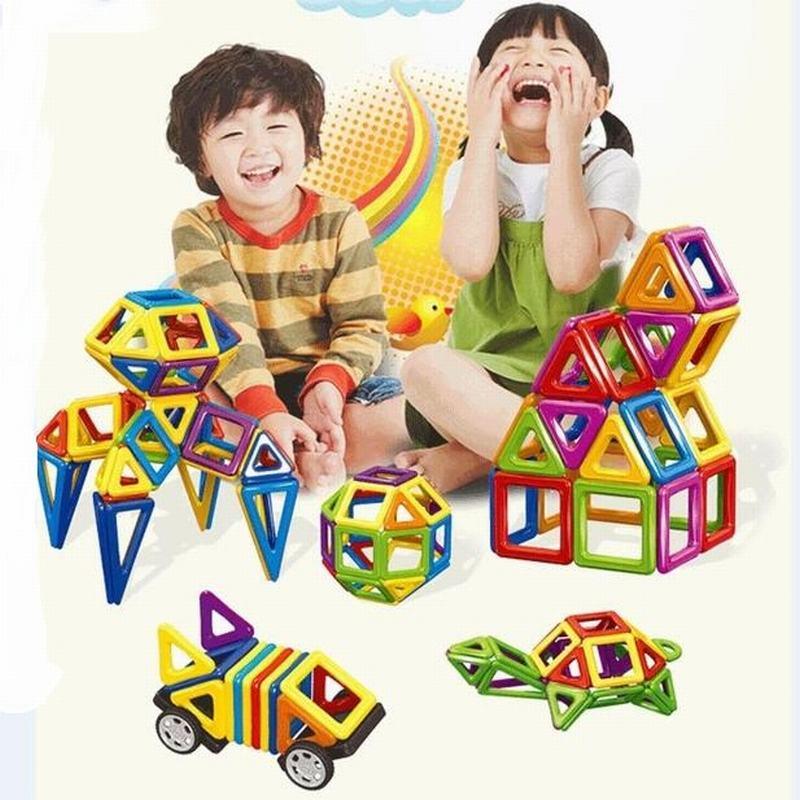 98PCS/Set Magnetic Building Blocks Construction Magnet Designer Toys Model Toys For Kids Children Building Blocks Magnetic susengo magnetic toy building enlighten block designer 358pcs magnet bars