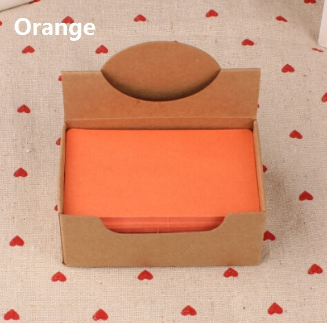 Hot selling 90*54mm.new arrival fashion cute retro Orange diy fun kraft paper tags.Blank paper Label.hang tag.bookmark.retail gr