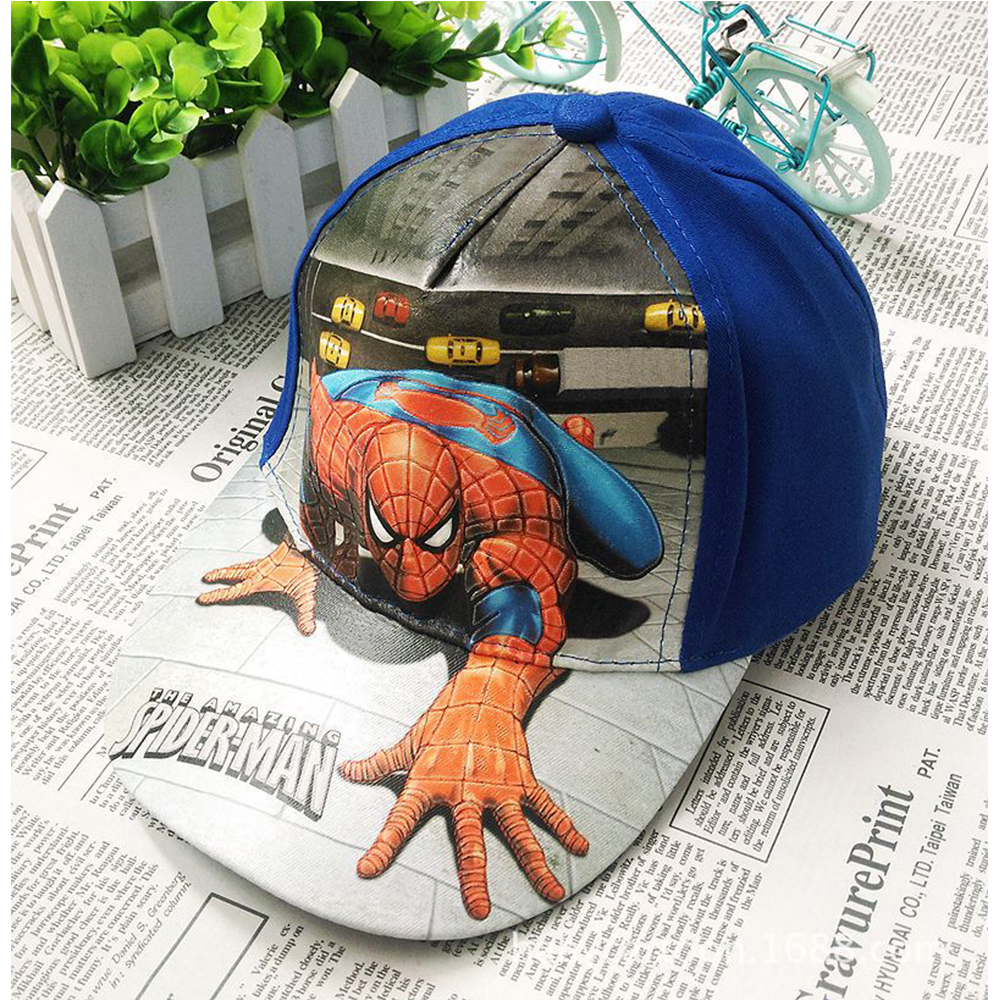 2017 Spiderman Cartoon Children Baseball Cap kids Boy Girl Hip Hop Hat Spiderman cosplay summer hat new fashion children summer baseball cap cartoon character design hip hop hats 3 to 12 year old girl boy kids lovely snapback